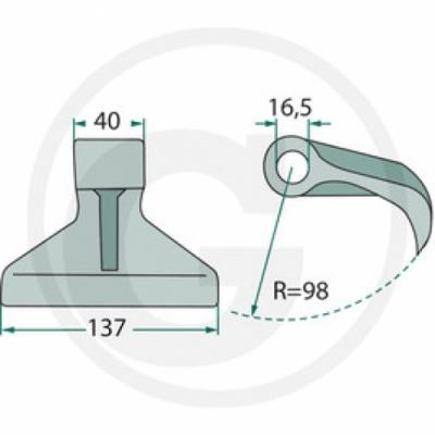 Mulcsozó kalapácsok (GS)