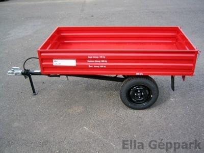 BAP-800 pótkocsi, mezőgazdasági, billenős, fék nélküli