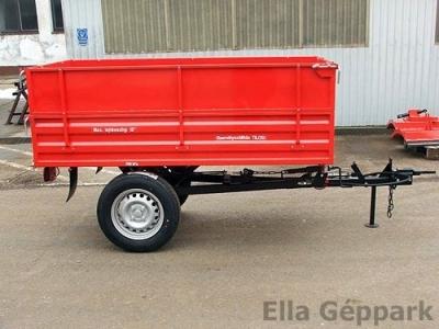 BP-1000 pótkocsi, mezőgazdasági, hátrabillenős, fékezett, magasított