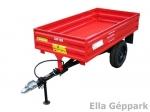 BAP-800 pótkocsi, mezőgazdasági, billenős, fék nélküli+magasító